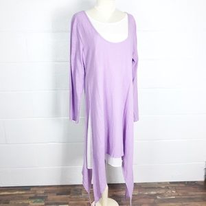 Lagonlook cotton tunic linen like texture sz XL
